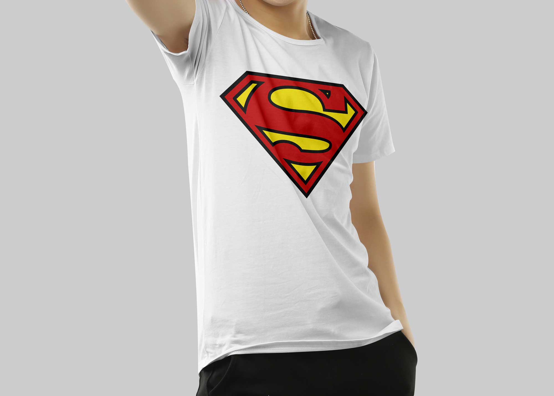 Download Free Superman Artwork T Shirt Mockup Shirt Mockup Logo Design Mockup Free Logo Mockup