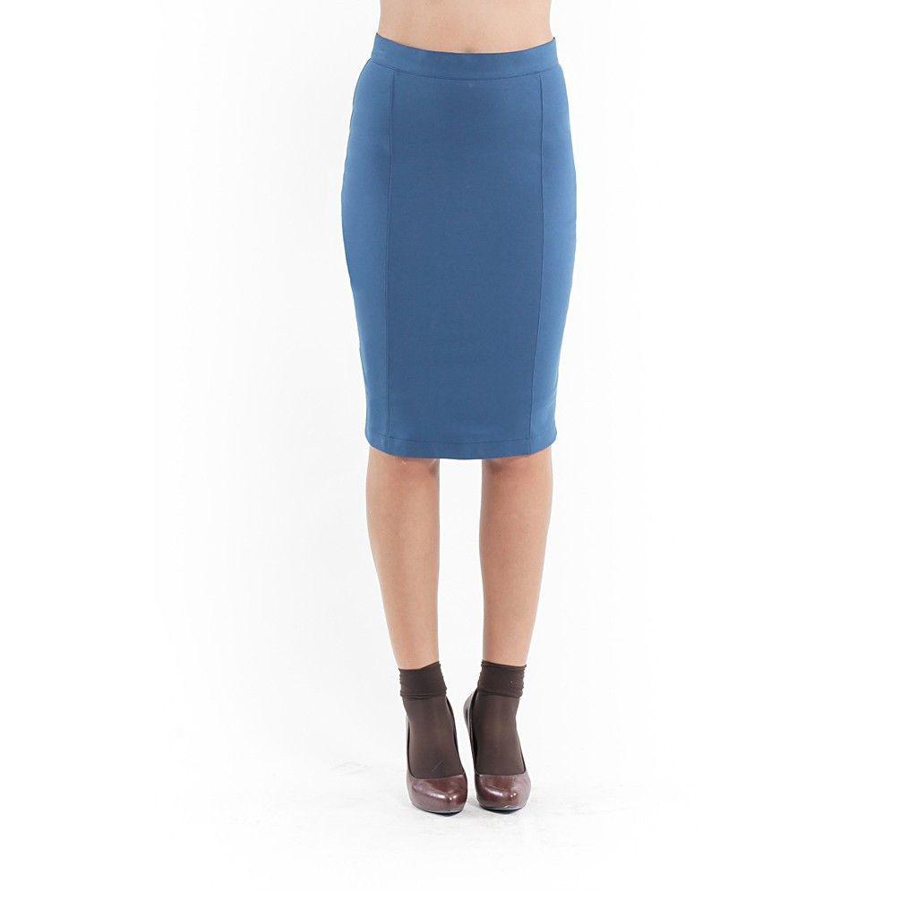Stretch Pencil Skirt petrol  http://nyagood.com/products/stretch-pencil-skirt-petrol