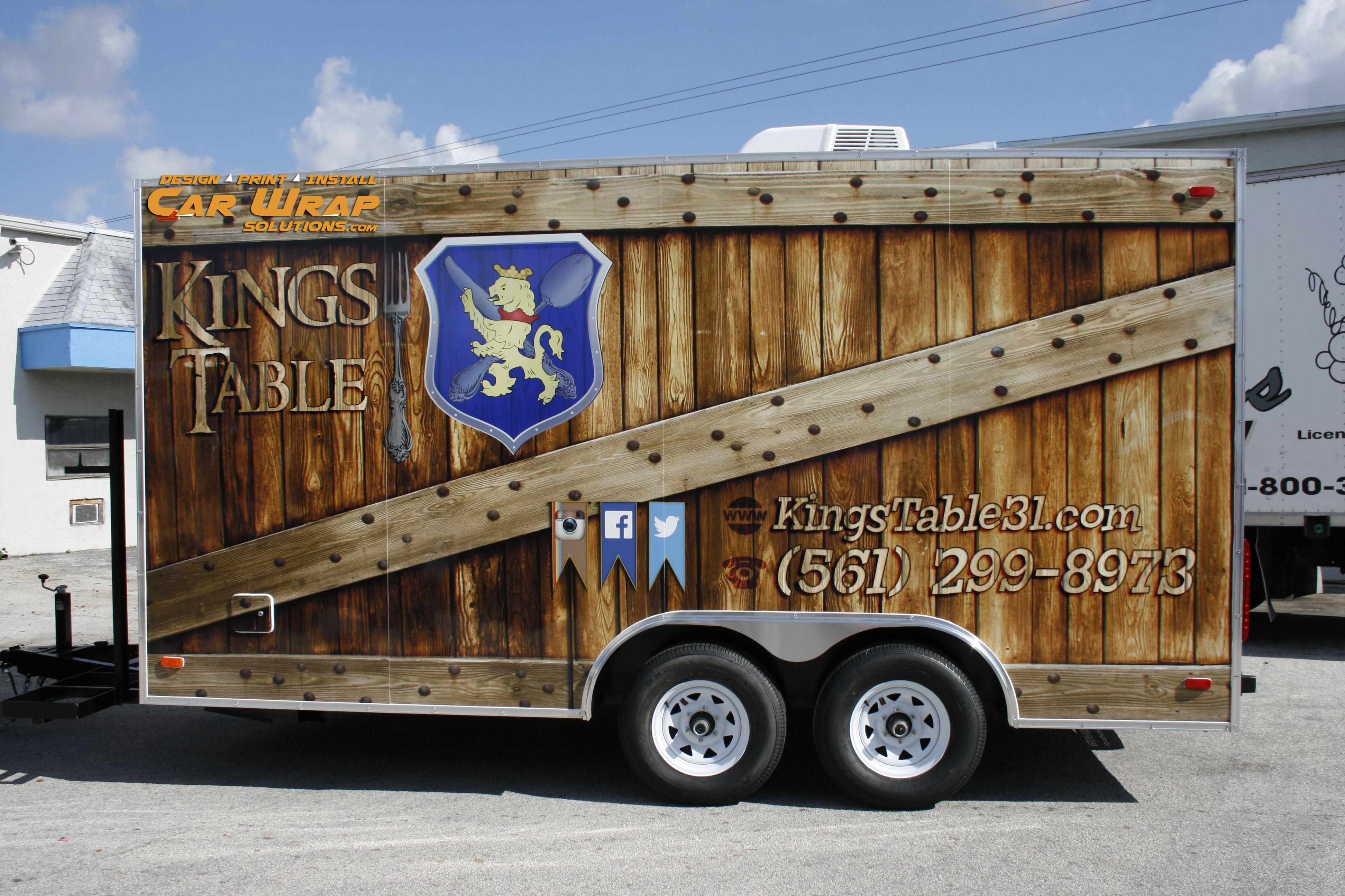 Creative custom concession trailer food truck wrap