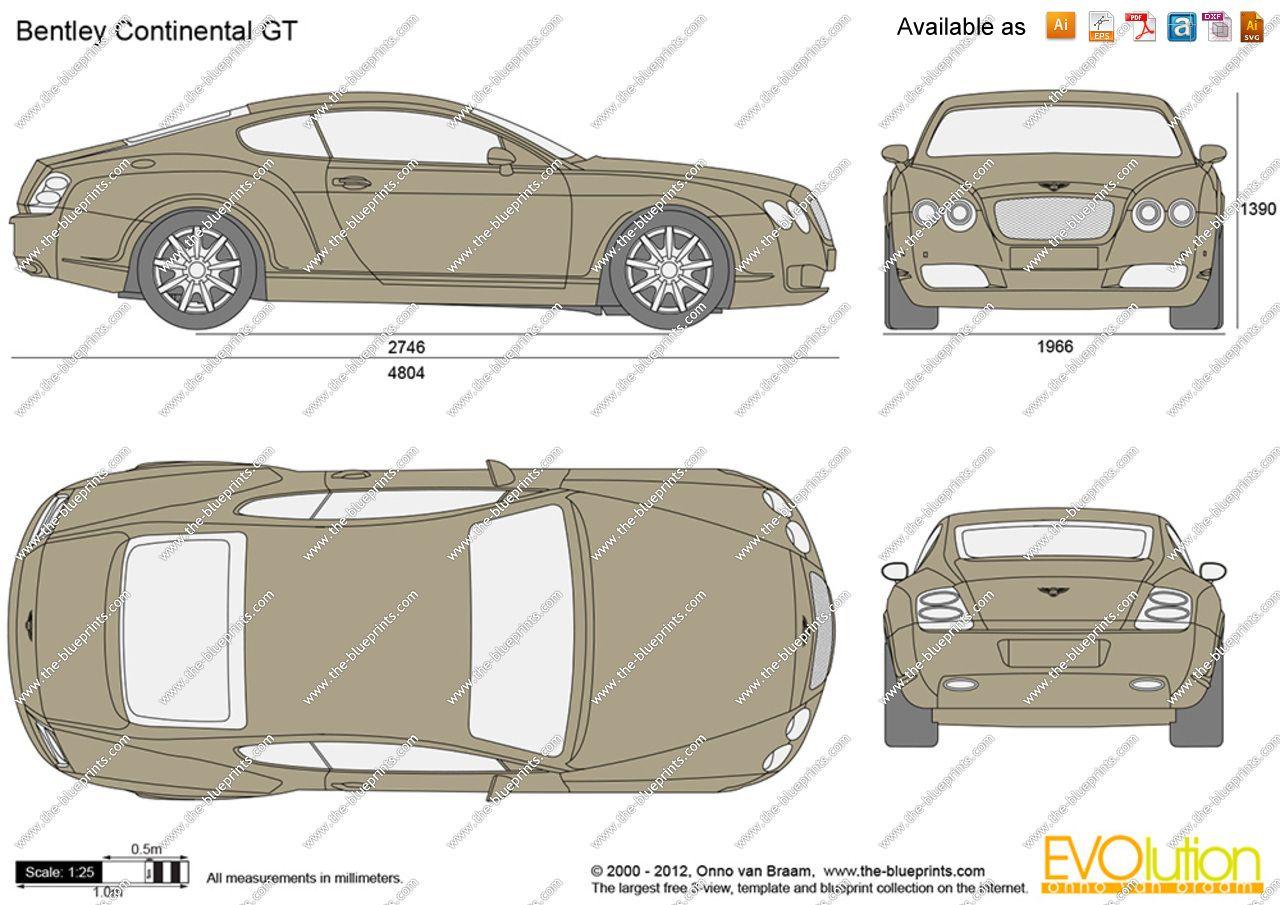 Bentley continental gt blueprint database pinterest bentley cars malvernweather Choice Image