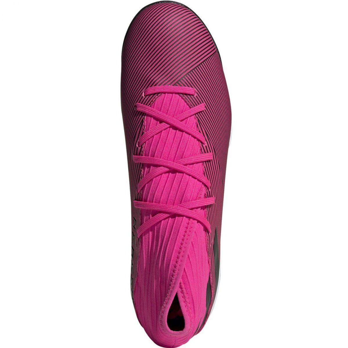 Buty Pilkarskie Adidas Nemeziz 19 3 Tf M F34426 Rozowe Czarne Pink Adidas Football Boots Football Shoes