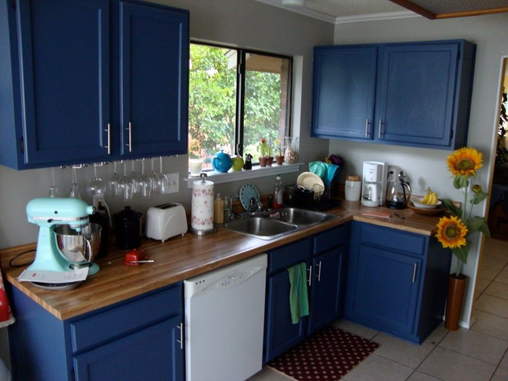 is for sale Blue kitchen