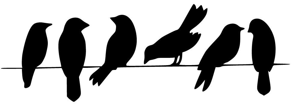 Bird on a wire template - photo#33