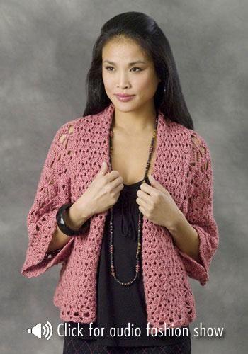 CARAMELO DE CROCHET: kimono en crochet   Para tejer   Pinterest ...