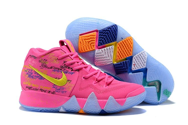 "858c3578f6f4 2018 Nike Kyrie 4 ""What The"" Pink Teal Christmas For Sale"