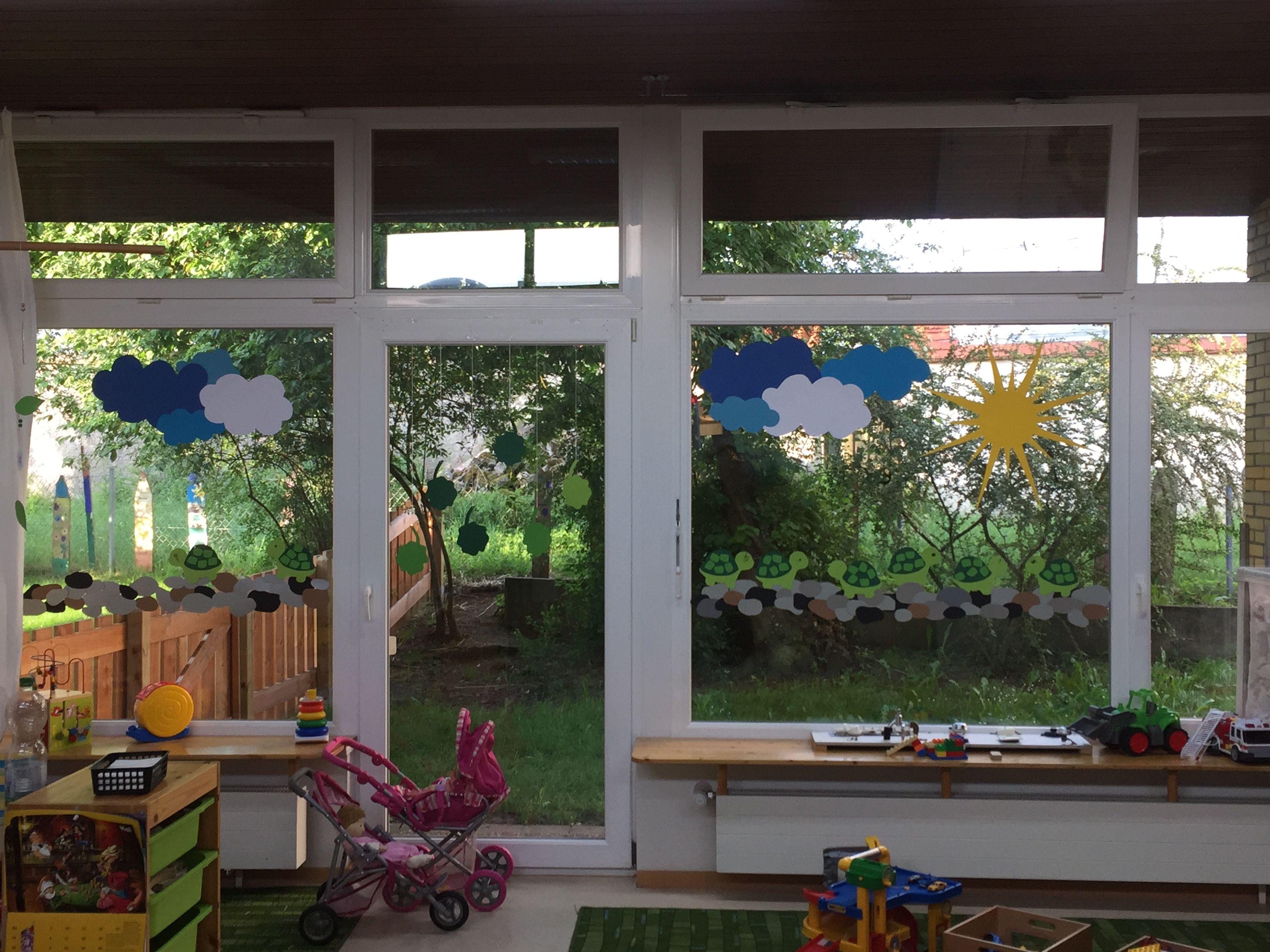 Kindergarten- Fensterbild 🌿🐢🌿