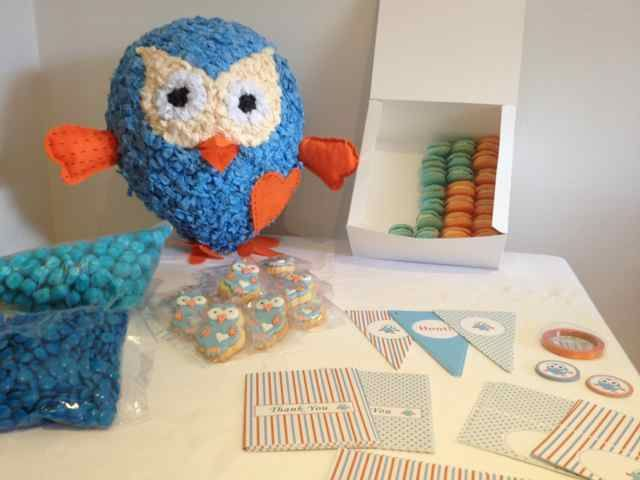 Giggle And Hoot Themed Stationary Decoration Candy And Edibles