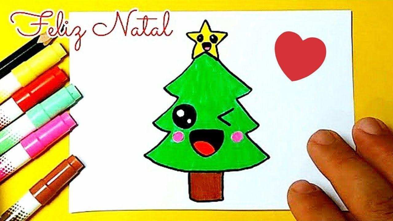 Como Desenhar árvore De Natal Kawaii Desenho Para Desenhar