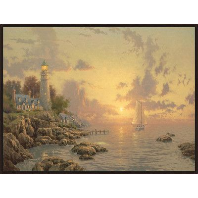 PTM Images 'The Sea of Tranquility' by Thomas Kinkade Framed Painting Print on Wrapped Canvas
