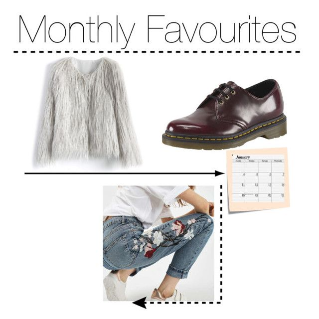 """""""Favourites: JANUARY"""" by emilylouisehale ❤ liked on Polyvore featuring Chicwish, Dr. Martens, Topshop, House of Doolittle and Post-It"""