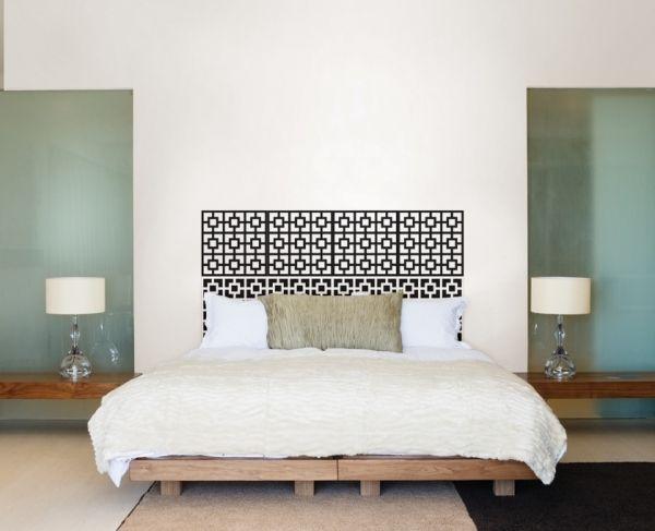 Kopfteil fur das bett diy ideen  Kopfteil für das Bett aus Holzpaletten-DIY Ideen mit dekorativer ...