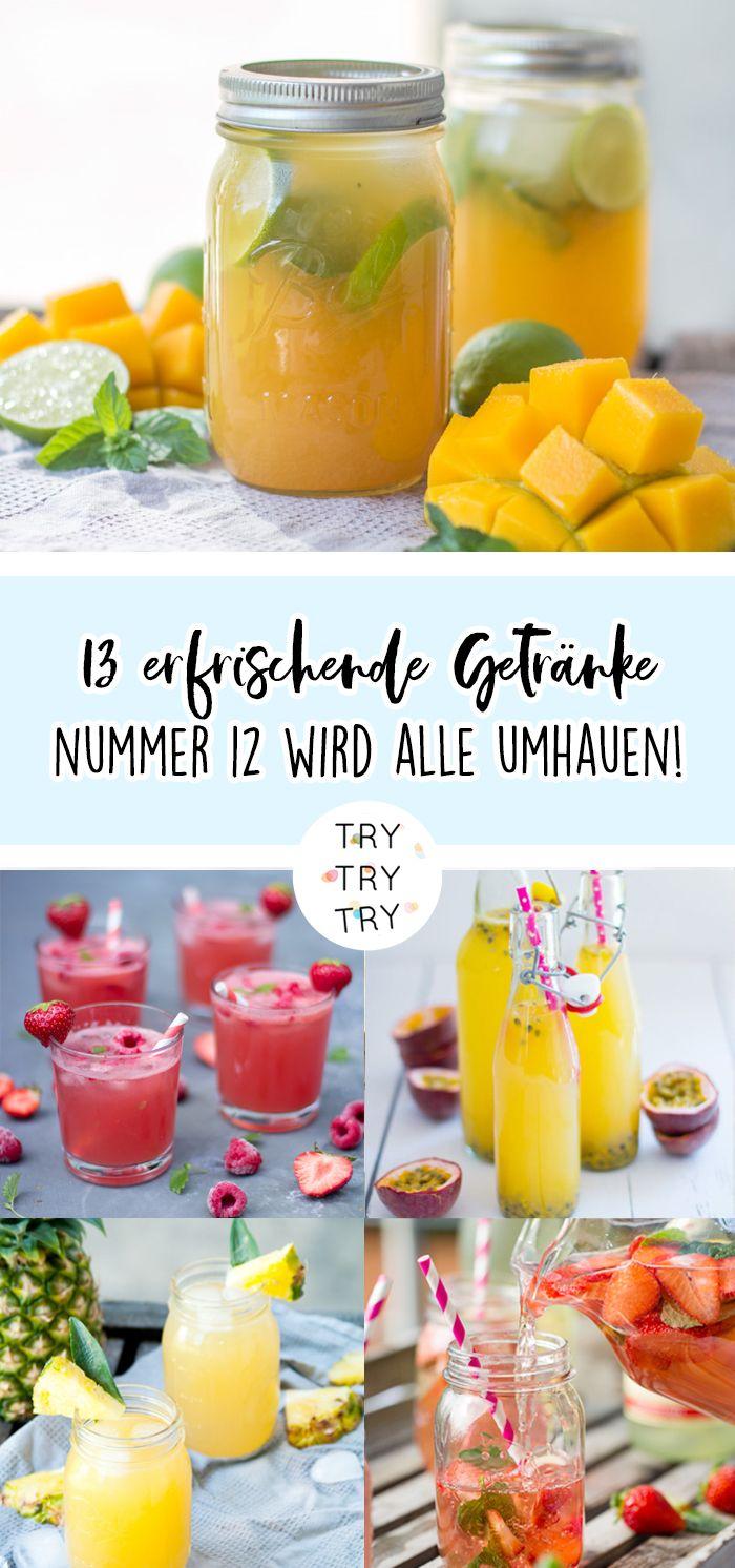 13 erfrischende Getränke für den Sommer