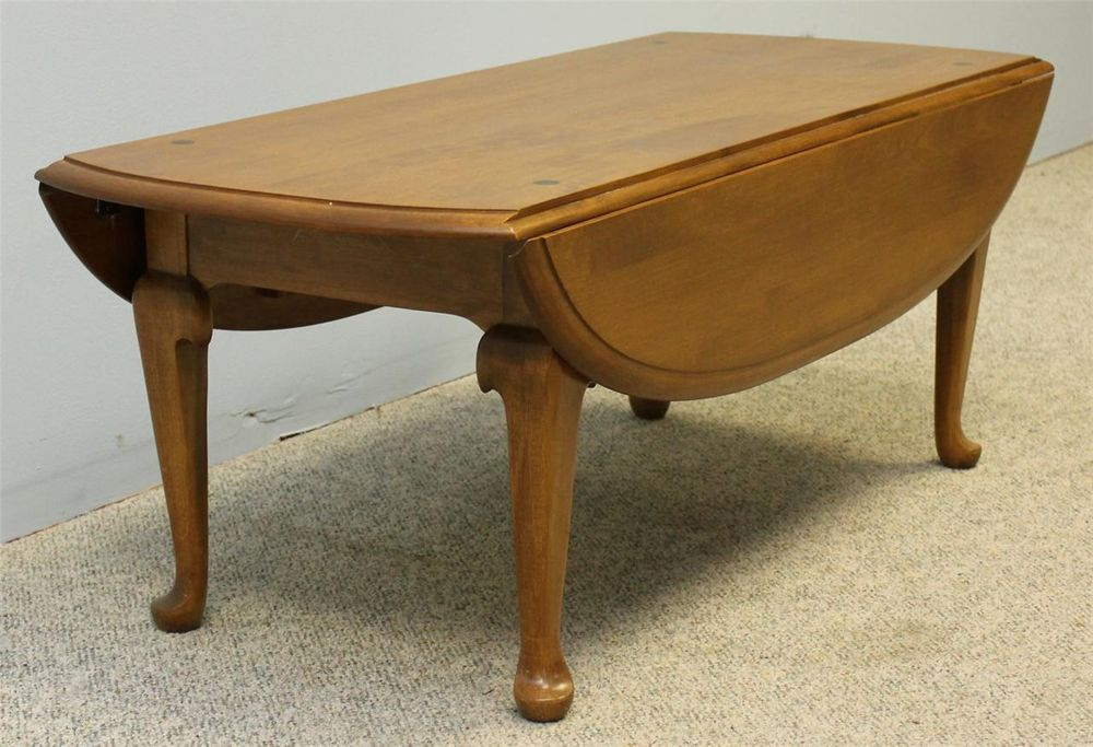 Ethan Allen Maple Oval Dropleaf Coffee Table I Just Found This At
