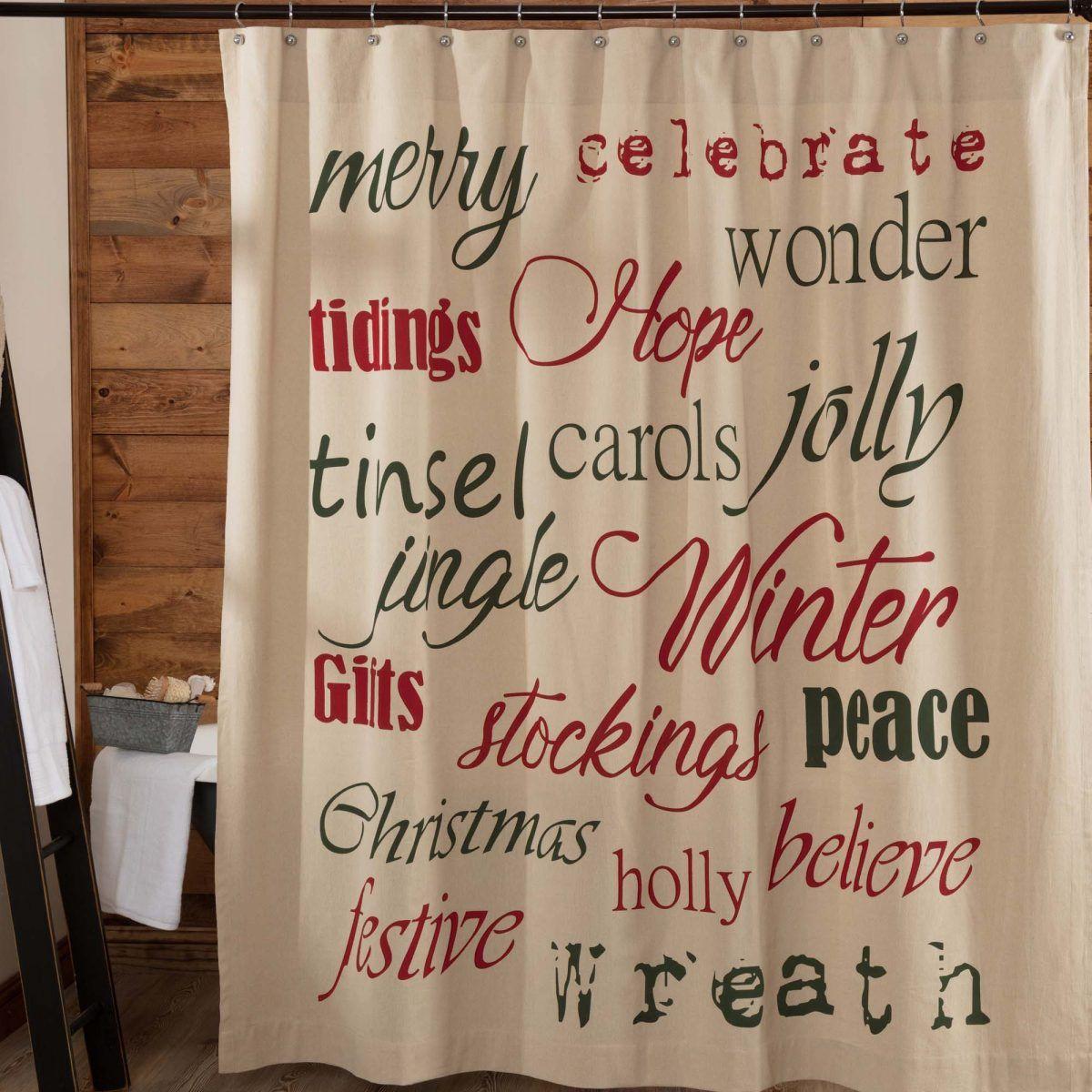 Christmas Day Printed Shower Curtain Christmas Holidays