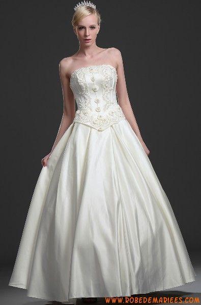 Robe de mariée longue sans traîne