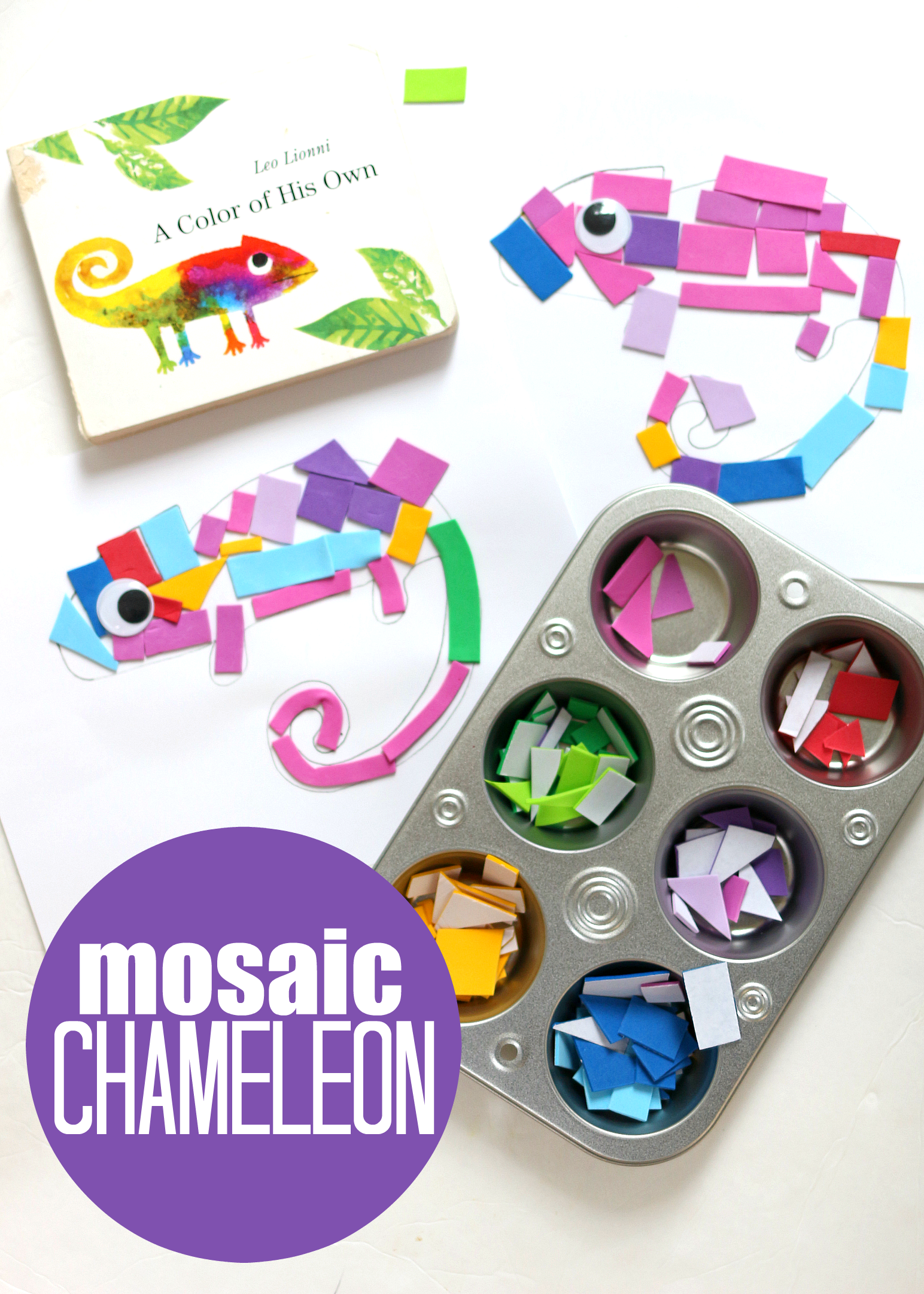 A Color Of His Own Inspired Mosaic Craft for Preschool