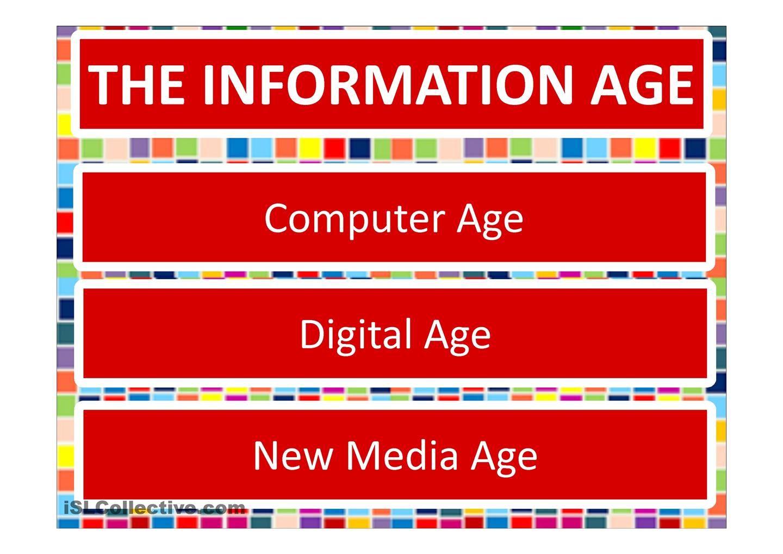VOCAB   Society. Technology. The Information Age.   ESL   VOCABULARY ...