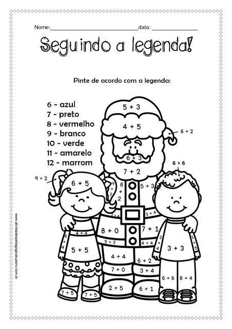 Trabalhando Legenda Matematica De Natal Puzzles De Natal