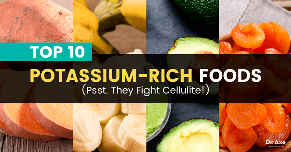benefits of potassium includes healthy skin reduced cellulite strong bones and the alleviation of menstrual cramps try these top 10 potassium rich foods