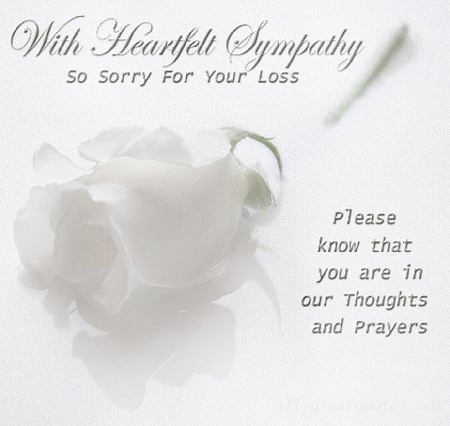 Sorry For Your Loss Quotes Sympathy Condolence  Bn Quoted  Pinterest  Condolences