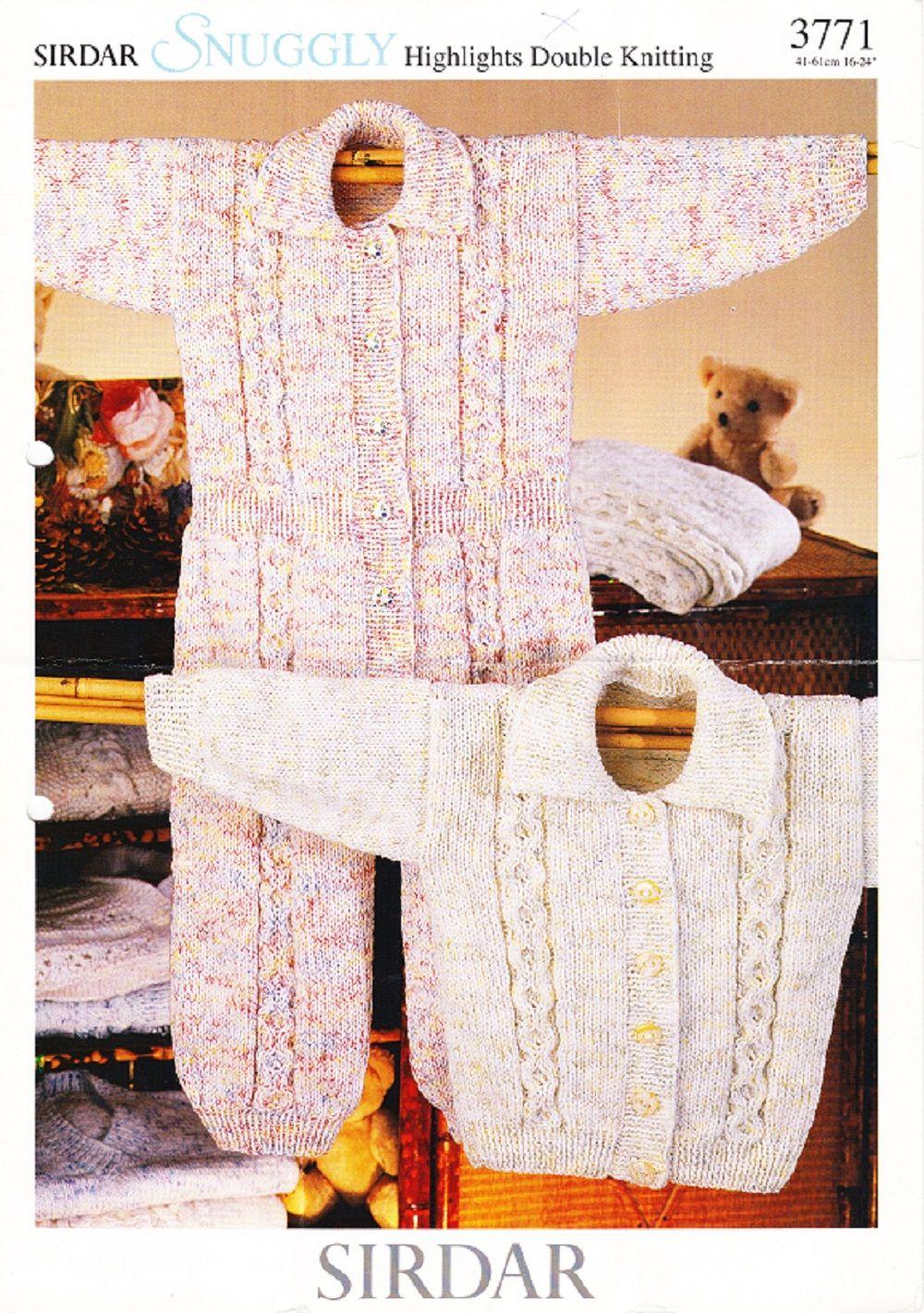 Sirdar Knitting Pattern 3771, DK, Babys & Childrens Cardigan ...
