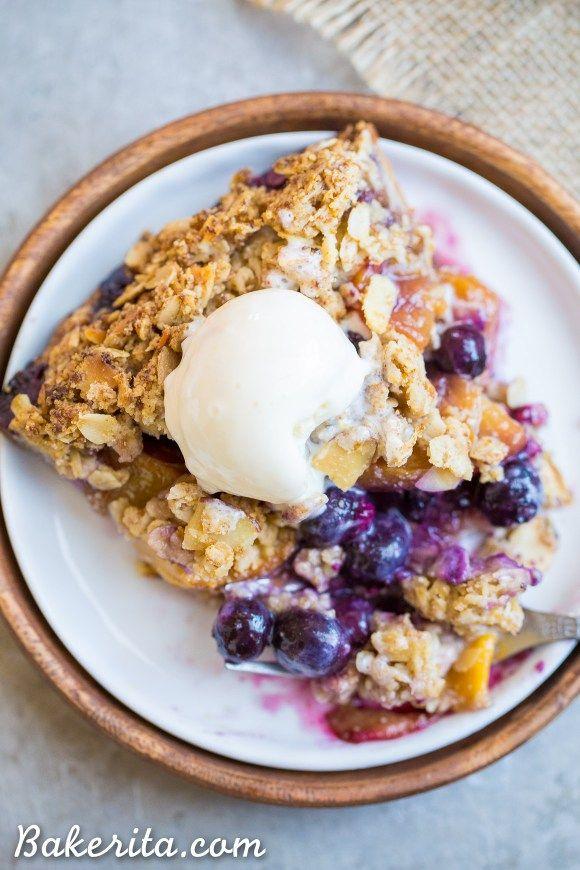 Blueberry Nectarine Pie Gluten Free Recipe Nectarine Dessert