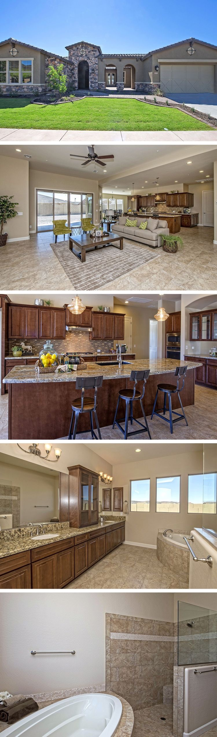 Luxury, single-story southwestern style home in Goodyear, AZ ...