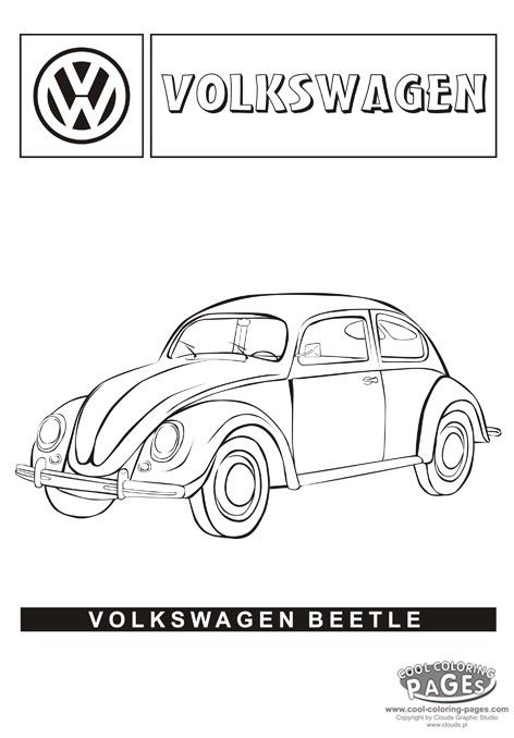 Bug Car Coloring Pages : Here s a fun page to color while studying passport germany