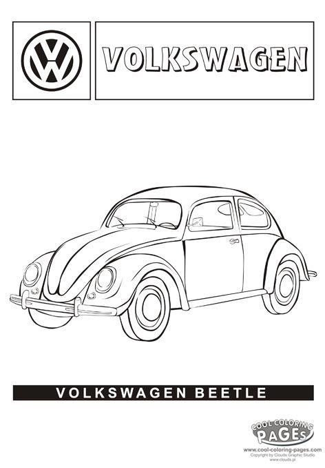 Volkswagen Beetle Coloring Page Volkswagen Beetle Volkswagen