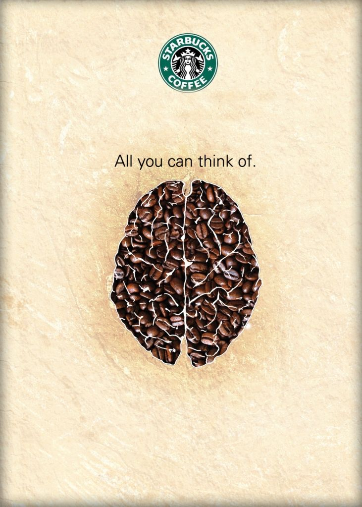 Starbucks poster design: I double love this!!