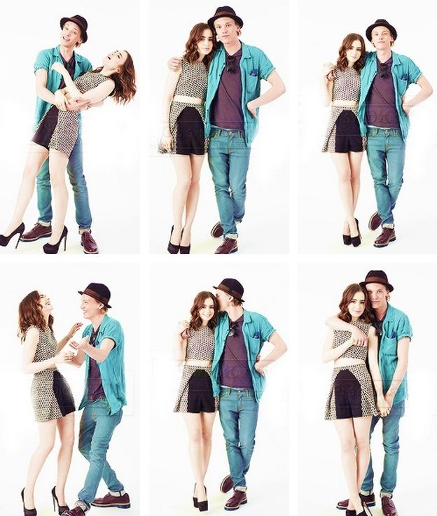 Lily Collins and Jamie...