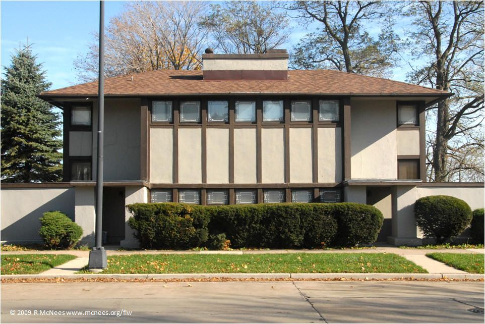 Thomas P Hardy House 1905 Racine Wisconsin Frank Lloyd Wright