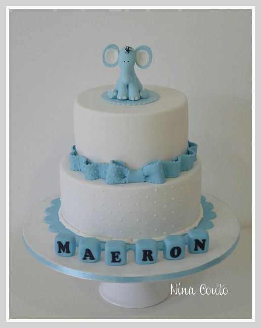 decoration gateau bapteme garcon