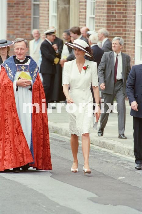 August 1 1991 Princess Diana at Portsmouth for a ceremony