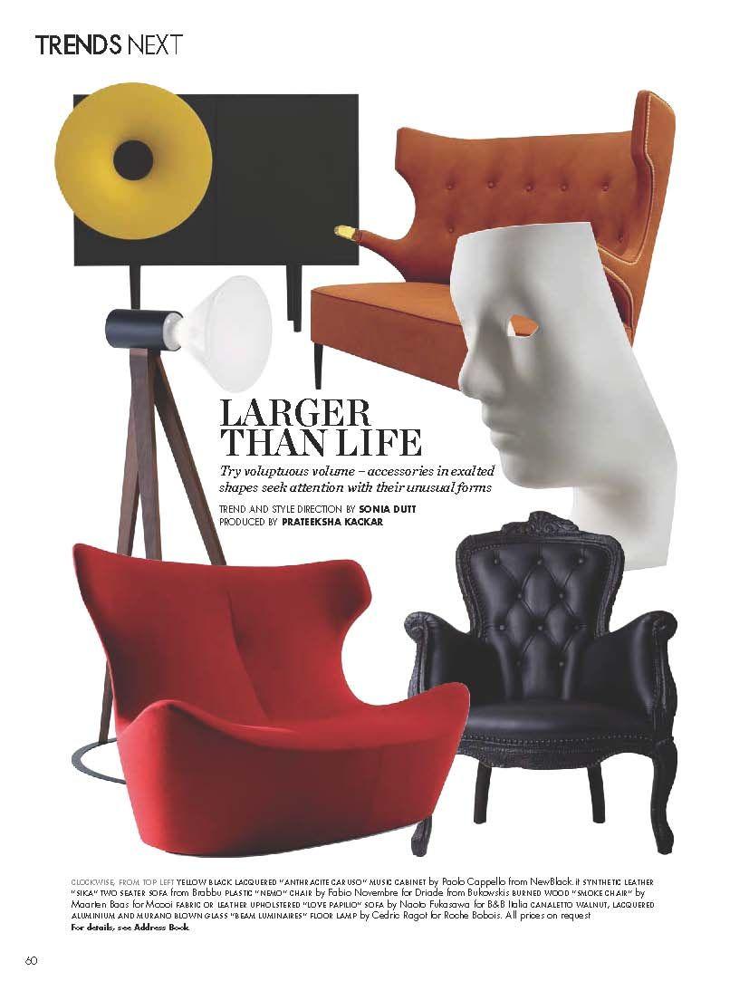 Drawing Room Sofa Designs India: Elle Decor India Featuring SIKA Sofa By BRABBU