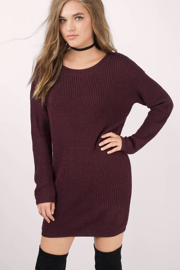 19c4b9acfe Second Look Sweater Dress at Tobi.com  shoptobi