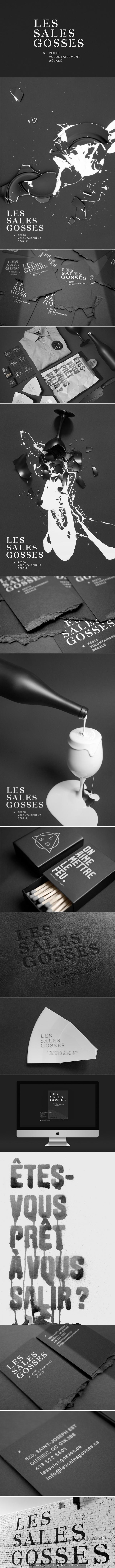 Superbe identité visuelle pour le restaurant Les sales gosses à Québec | Jeremy Hall