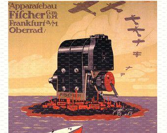 Drucken einer Luftfahrt-Poster aus dem Allen Airways Flying Museum.  Titel: Grand Meeting d Aviation Rouen Künstler: Marcel Vertes Frankreich.
