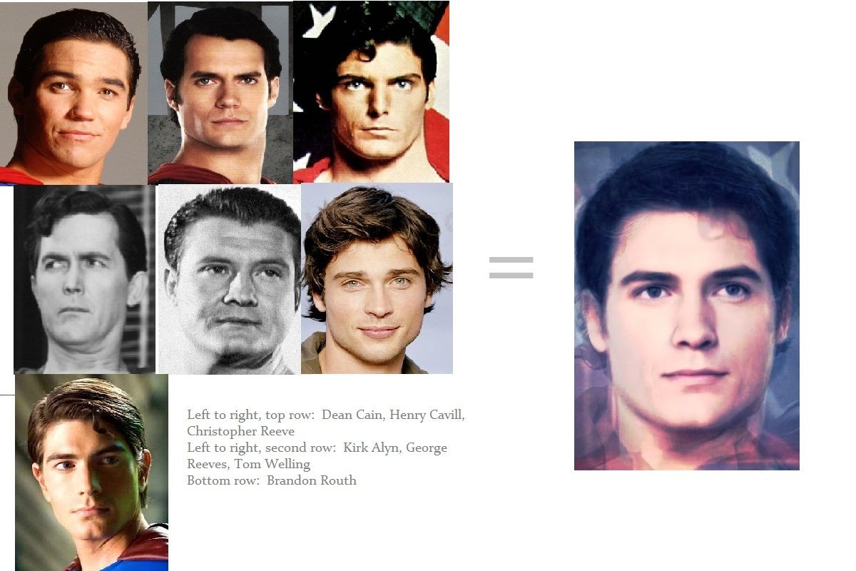 Morph Of All The Actors Who Have Played Superman In Film Or Television Dean Cain