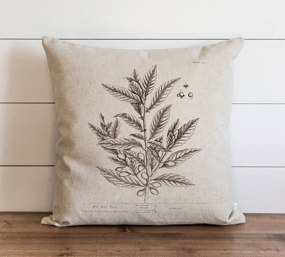 Botanical Bay Tree 20 X 20 Pillow Cover Everyday Herbs
