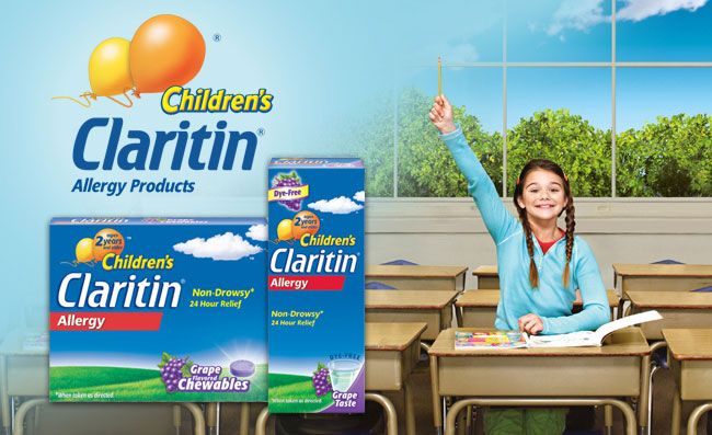 Visit claritin.com for more information about children's allergy symptoms and management resources, plus valuable coupons for Children's Claritin® and other Claritin® products.