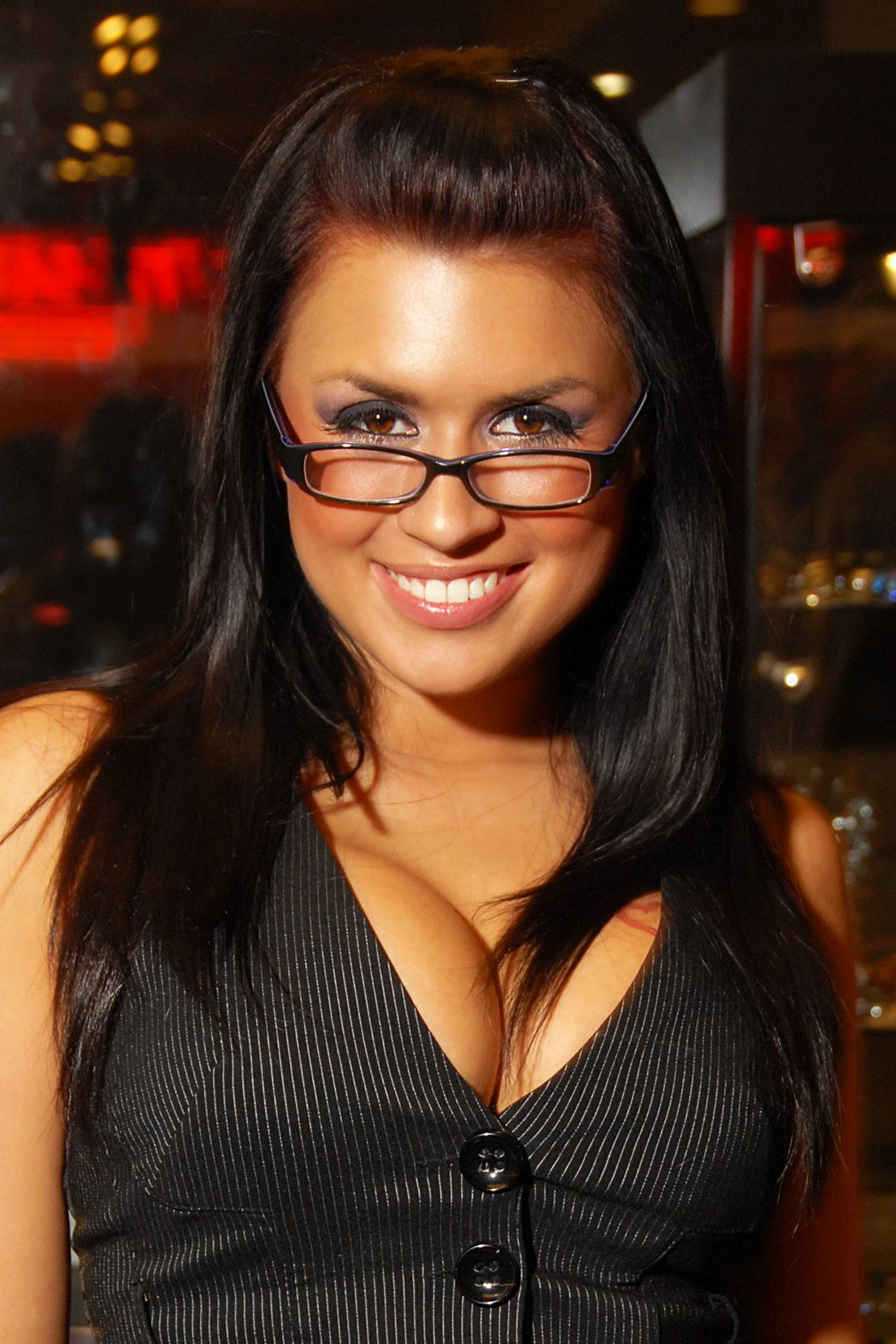 eva angelina, the reason my husband picked out my glasses..she's