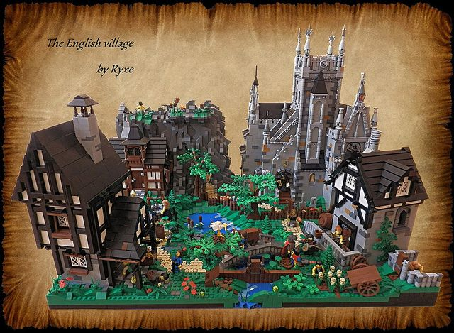 Amazing build, yet not too complicated! The English village by Ryxe ...
