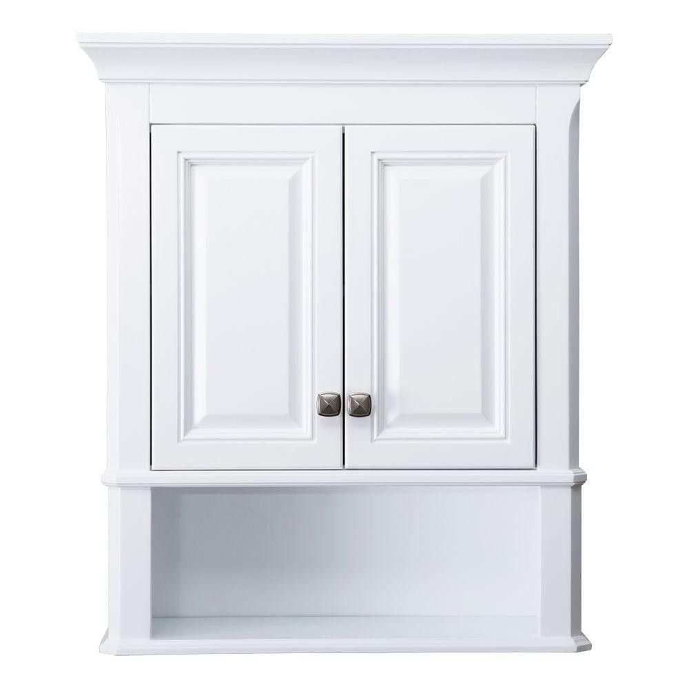 Attirant Home Decorators Collection Moorpark 24 In W Bathroom Storage Wall From  White Bathroom Cabinet Wall