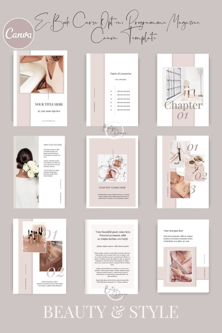 Beauty Boss Canva Templates | Lead Magnet, Course,