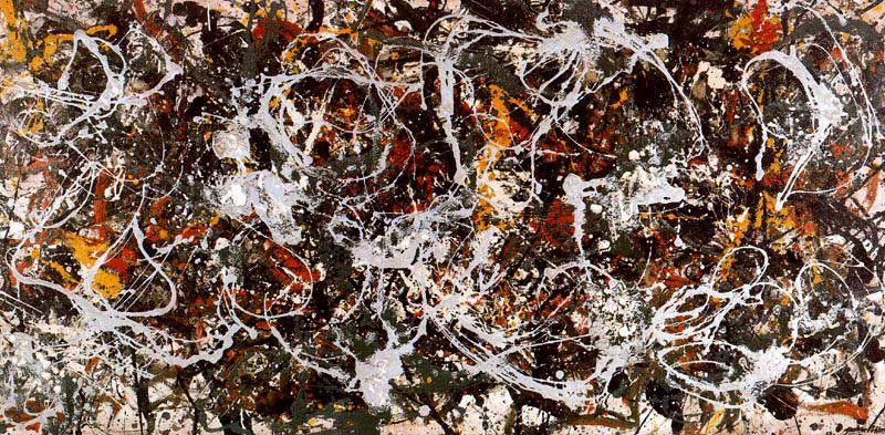 Jackson pollock number 3 action painting 1949 for Mural jackson pollock
