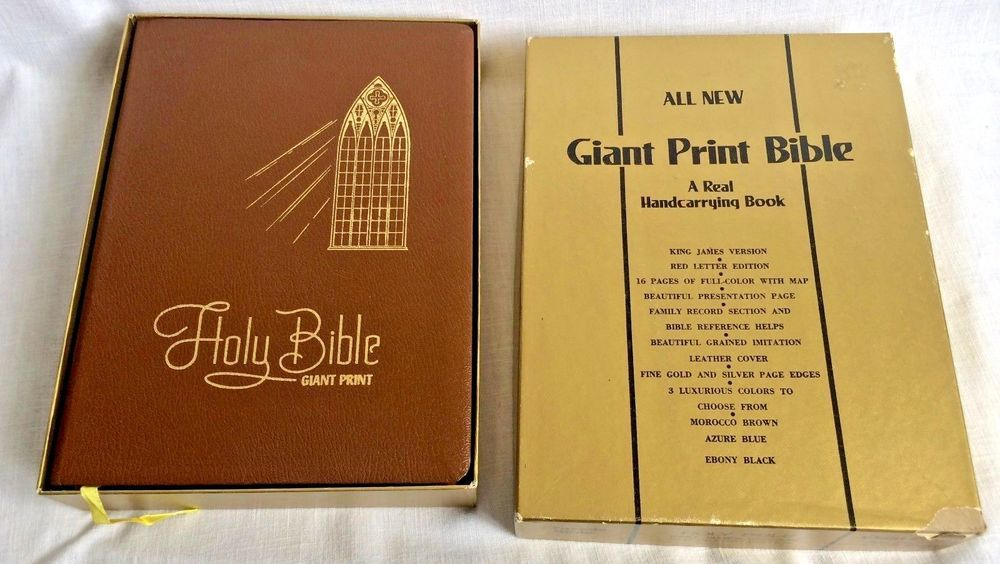 Giant Print Bible King James Version Red Letter Edition