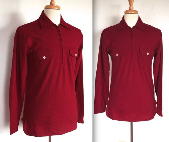 Vintage 1950s pullover shirt C9Rt74