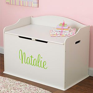 Personalized Wooden Toy Box White Wooden Toy Boxes Girls Toy Box Personalised Wooden Toy Box