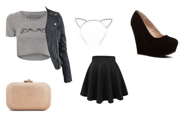 """""""Untitled #474"""" by littlewonder2504 ❤ liked on Polyvore featuring Candie's, CO and Judith Leiber"""